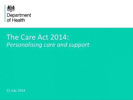 the care act 2014 personalising care and support